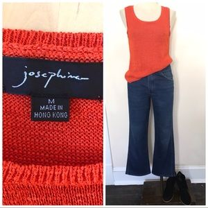 Pumpkin orange sweater tank